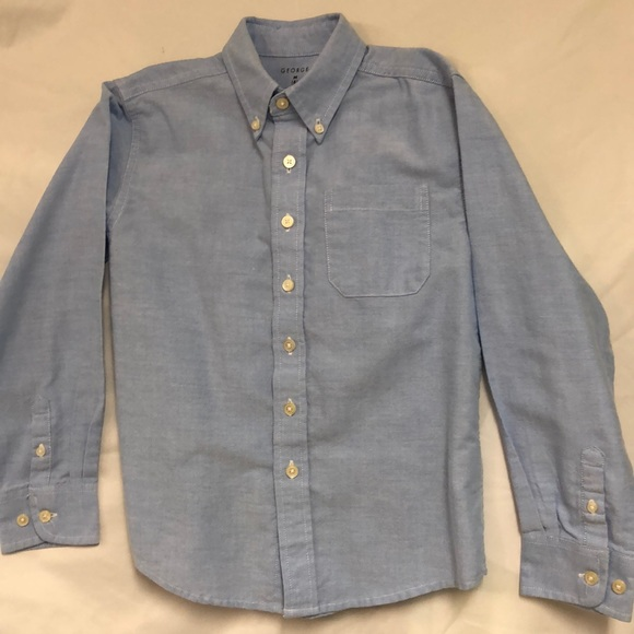 George Other - Blue Oxford Chambray Button Down Dress Shirt